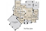 Craftsman Style House Plan - 3 Beds 3 Baths 2847 Sq/Ft Plan #120-172 Floor Plan - Main Floor