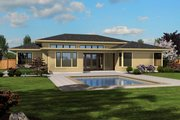 Modern Style House Plan - 4 Beds 2.5 Baths 2334 Sq/Ft Plan #48-603 Exterior - Rear Elevation