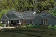 Craftsman Style House Plan - 3 Beds 2 Baths 1879 Sq/Ft Plan #120-187 Exterior - Rear Elevation