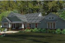 House Design - Bungalow style, Craftsman design rear elevation