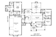 European Floor Plan - Main Floor Plan Plan #932-11