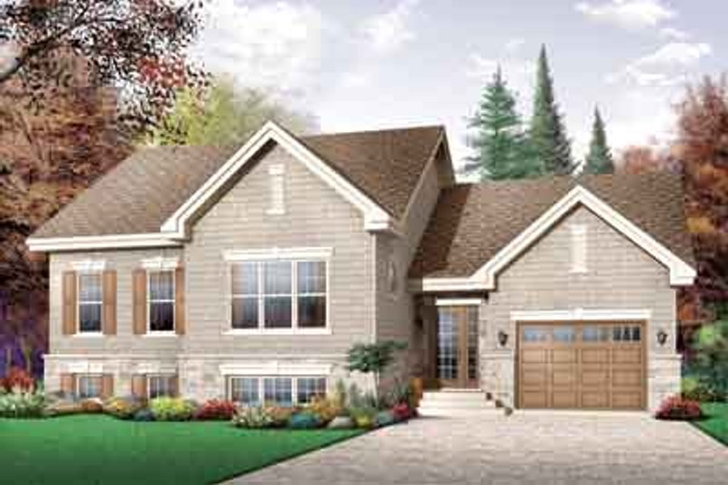 Traditional Exterior - Front Elevation Plan #23-660 - Houseplans.com