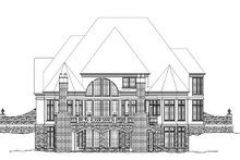 Classical Exterior - Rear Elevation Plan #119-230