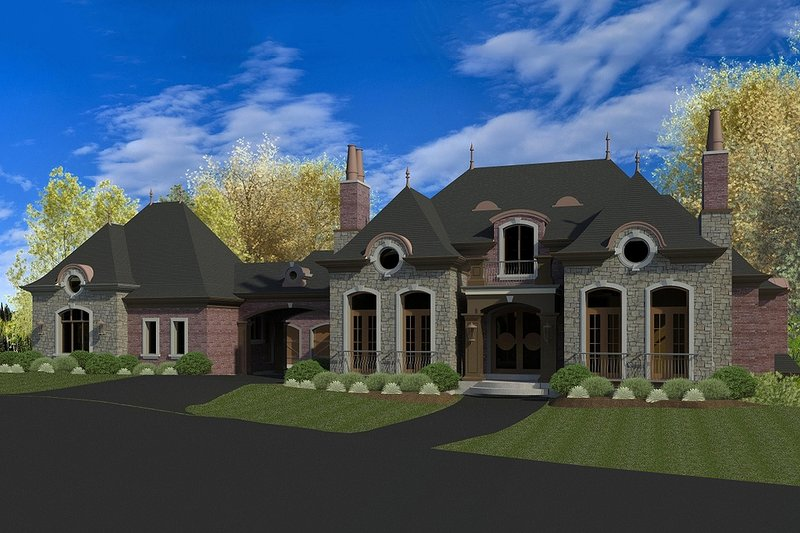 European Exterior - Front Elevation Plan #920-65