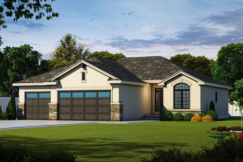 Ranch Style House Plan - 3 Beds 2 Baths 1676 Sq/Ft Plan #20-2321