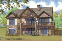 House Plan Design - Traditional Exterior - Rear Elevation Plan #923-11