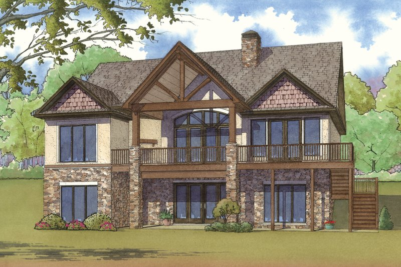 Traditional Exterior - Rear Elevation Plan #923-11 - Houseplans.com