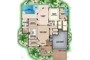 Contemporary Style House Plan - 4 Beds 4.5 Baths 5097 Sq/Ft Plan #27-544 Floor Plan - Main Floor Plan