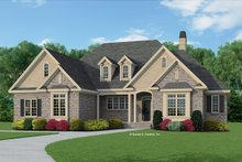 European Exterior - Front Elevation Plan #929-964