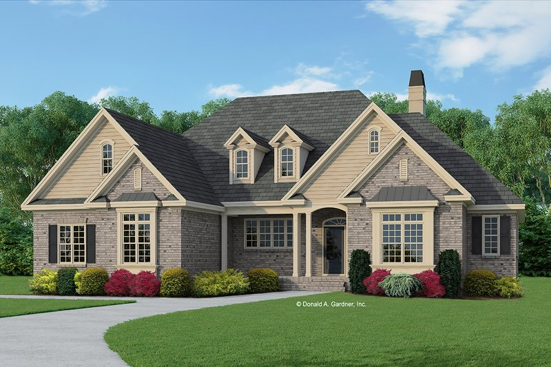 House Plan Design - European Exterior - Front Elevation Plan #929-964