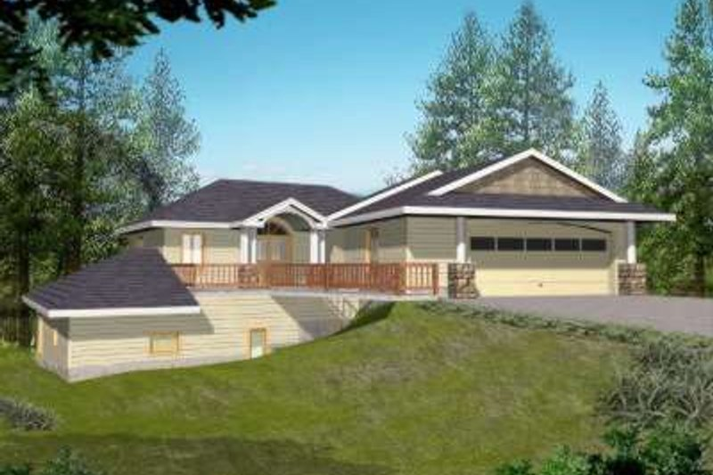 Traditional Exterior - Front Elevation Plan #117-489 - Houseplans.com