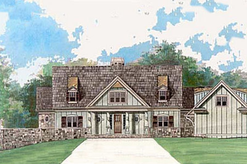 European Exterior - Front Elevation Plan #119-336