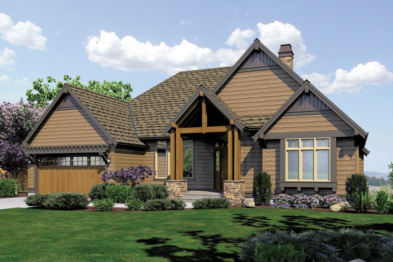 Home Plan - Front View - 3600 square foot Craftsman Home