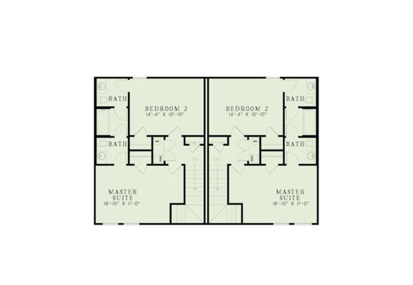 Ranch Floor Plan - Upper Floor Plan Plan #17-3418