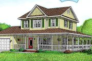 Country Style House Plan - 3 Beds 1.5 Baths 1399 Sq/Ft Plan #11-212 Exterior - Front Elevation