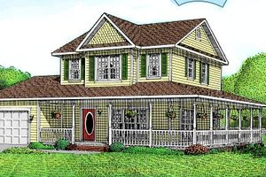 Country Exterior - Front Elevation Plan #11-212