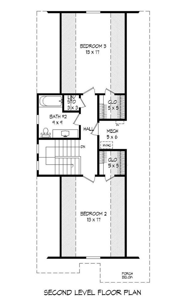 Country Floor Plan - Upper Floor Plan Plan #932-20