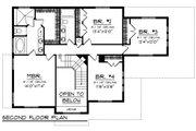 Craftsman Style House Plan - 4 Beds 3 Baths 2588 Sq/Ft Plan #70-1226 Floor Plan - Upper Floor Plan