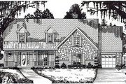 Traditional Style House Plan - 5 Beds 3.5 Baths 3534 Sq/Ft Plan #62-147 Exterior - Front Elevation