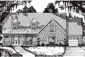 Traditional Exterior - Front Elevation Plan #62-147