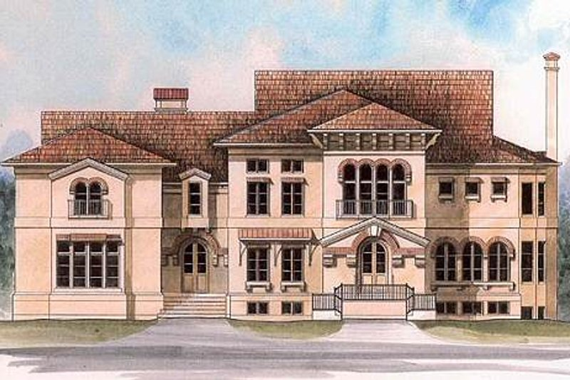 European Exterior - Front Elevation Plan #119-254