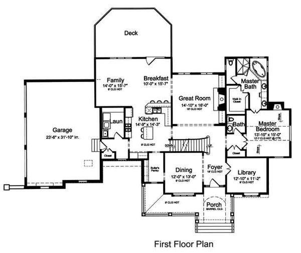 European Floor Plan - Main Floor Plan Plan #46-485