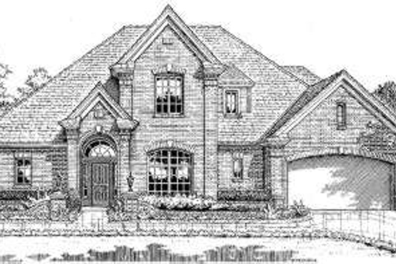 European Style House Plan - 4 Beds 2.5 Baths 2175 Sq/Ft Plan #310-201 Exterior - Front Elevation