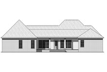 Dream House Plan - Traditional Exterior - Rear Elevation Plan #21-377
