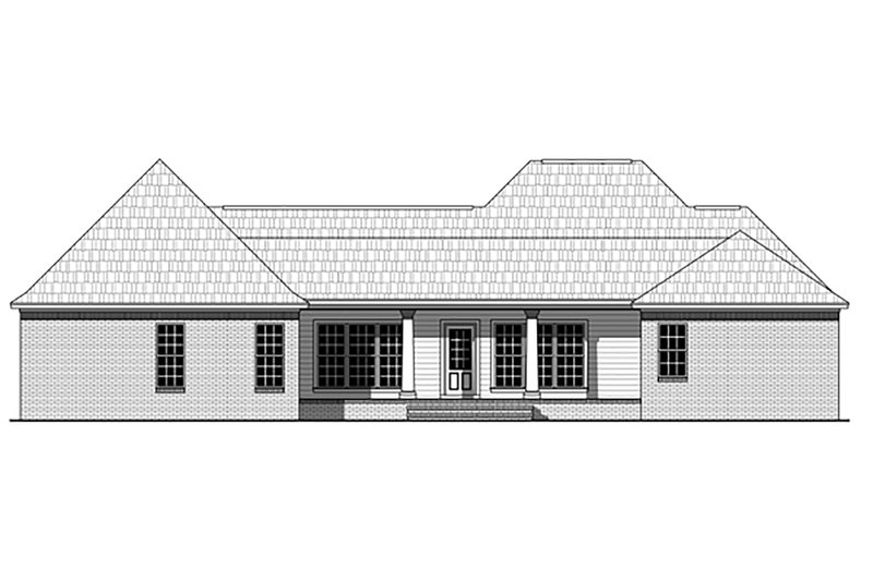 Traditional Exterior - Rear Elevation Plan #21-377 - Houseplans.com