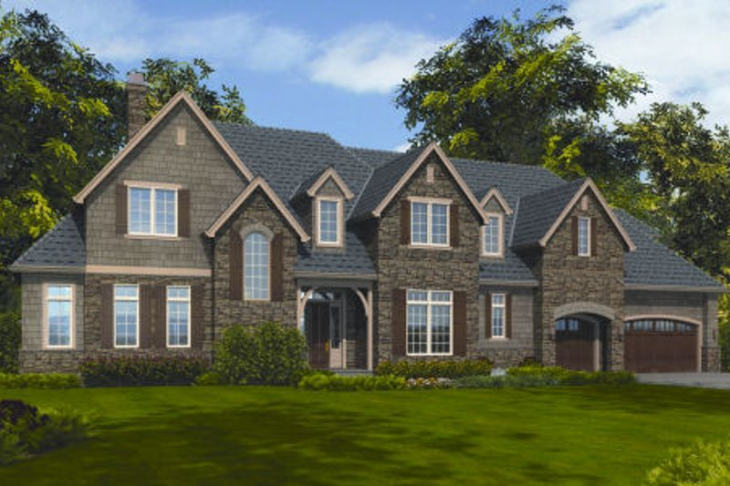 Dream House Plan - European Exterior - Front Elevation Plan #48-259