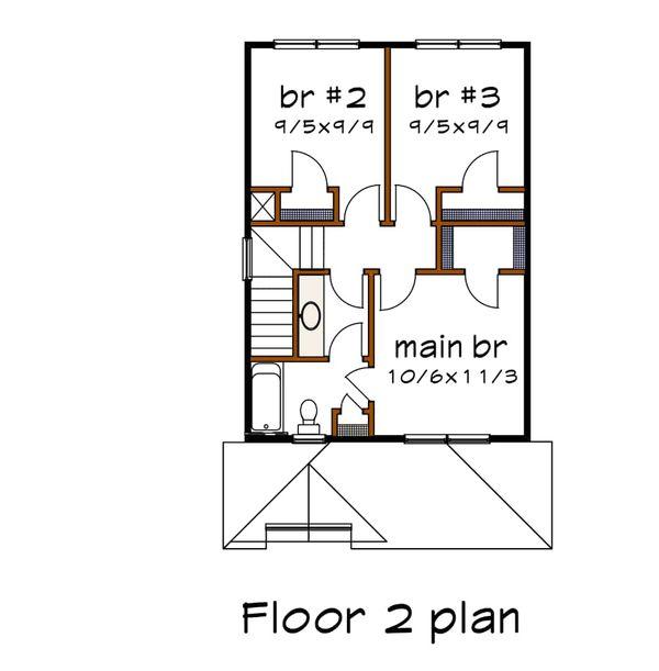 Farmhouse Floor Plan - Upper Floor Plan Plan #79-124