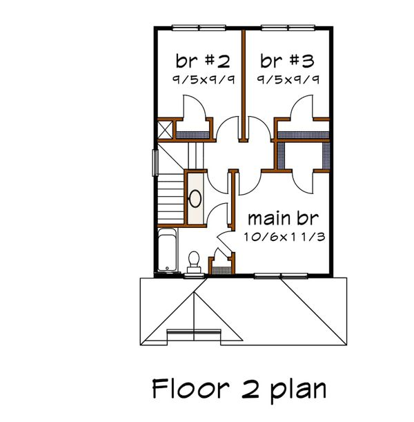 Dream House Plan - Farmhouse Floor Plan - Upper Floor Plan #79-124