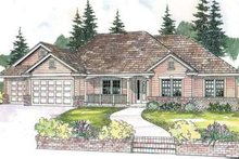 Dream House Plan - Traditional Exterior - Front Elevation Plan #124-590