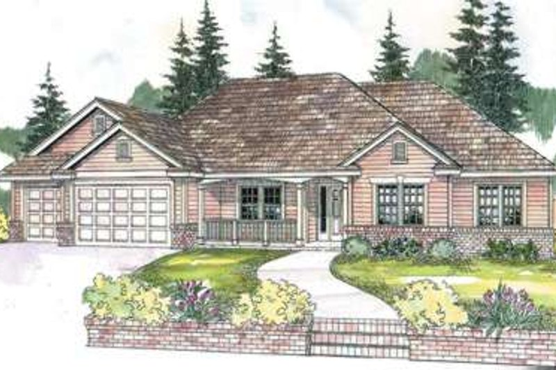 Home Plan - Traditional Exterior - Front Elevation Plan #124-590