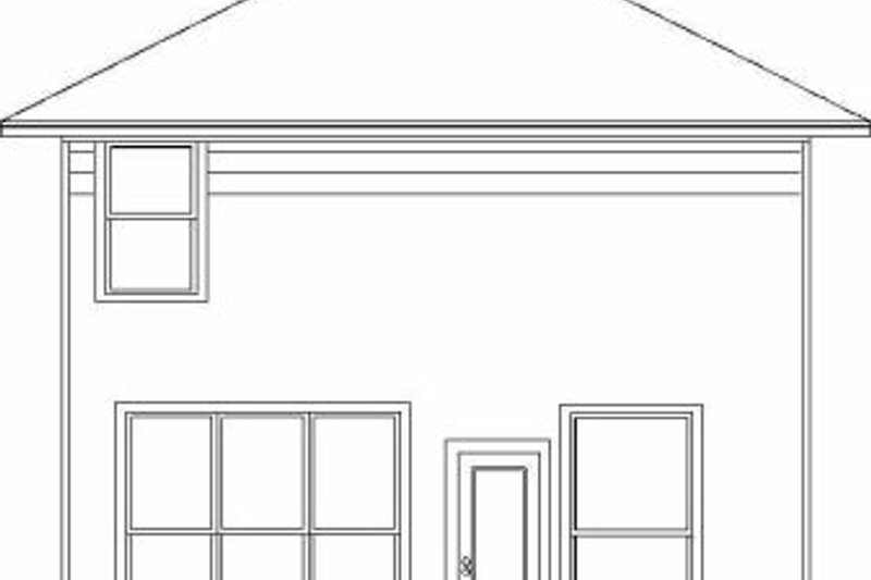 Colonial Exterior - Rear Elevation Plan #84-113 - Houseplans.com