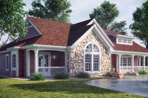 Farmhouse Exterior - Front Elevation Plan #57-178