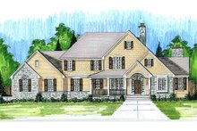 Dream House Plan - European Exterior - Front Elevation Plan #46-485