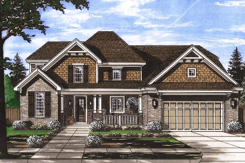 Traditional Exterior - Front Elevation Plan #46-875