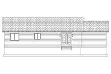 Home Plan - Ranch Exterior - Rear Elevation Plan #1060-3
