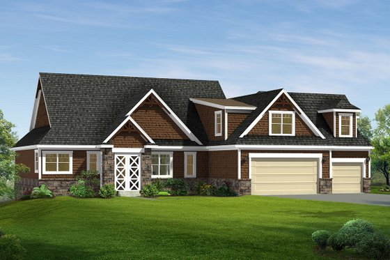 Craftsman Exterior - Front Elevation Plan #1057-8
