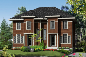 Contemporary Exterior - Front Elevation Plan #25-4353