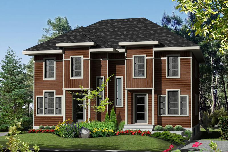 Contemporary Style House Plan - 5 Beds 2 Baths 2421 Sq/Ft Plan #25-4353 Exterior - Front Elevation