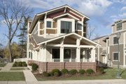 Craftsman Style House Plan - 3 Beds 3 Baths 2460 Sq/Ft Plan #454-12 Exterior - Front Elevation
