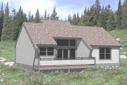 Contemporary Style House Plan - 2 Beds 2 Baths 950 Sq/Ft Plan #116-124 Exterior - Front Elevation