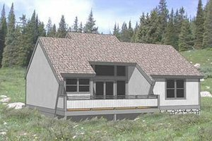 Contemporary Exterior - Front Elevation Plan #116-124
