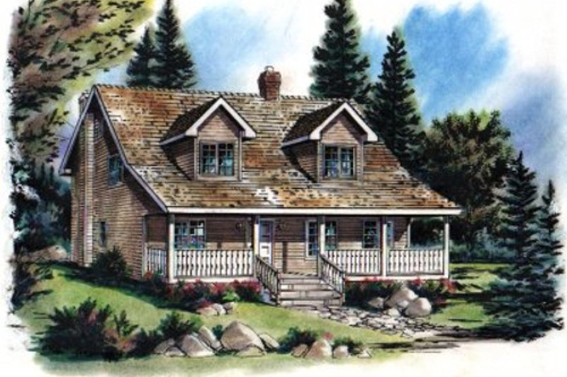 Craftsman Style House Plan - 3 Beds 2.5 Baths 1908 Sq/Ft Plan #18-235 Exterior - Front Elevation