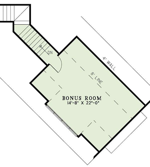 European Floor Plan - Upper Floor Plan #17-2556