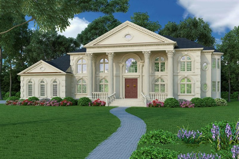 Classical Exterior - Front Elevation Plan #119-363