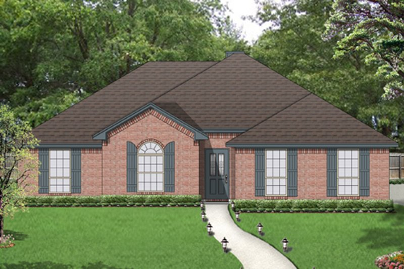Traditional Exterior - Front Elevation Plan #84-560 - Houseplans.com