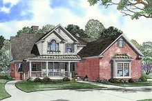 House Plan Design - Country Exterior - Front Elevation Plan #17-2137